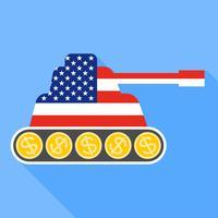 Verenigde Staten vlag geschilderd op de tank