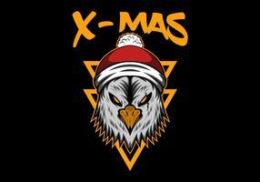 xmas vrolijk kerstfeest adelaar vector