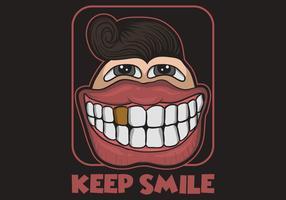 Grote glimlach cartoon vectorillustratie vector