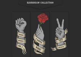 Hand collectie vectorillustratie vector