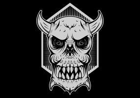 schedel monster kwaad hoofd