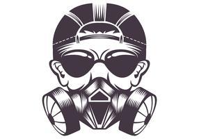 Gasmasker vectorillustratie vector