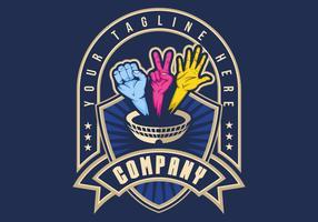 hand strijd arena badge vector illustratie