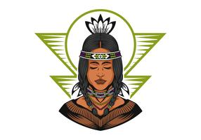 Inheemse Amerikaanse mooie meisjes vectorillustratie
