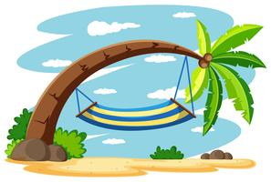 Hangmat op de kokospalm