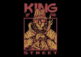 koning straat leeuw vector ontwerp