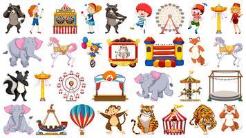 Set van circuskarakter