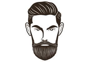 hoofd baard man vector