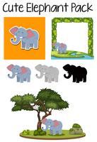 Een schattig olifantenpakket