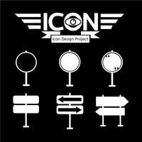 wegwijzer pictogram symbool teken vector