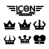 Kroon pictogram symbool teken vector