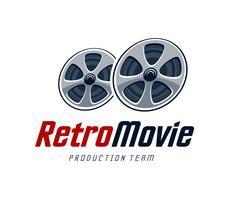 Retro film logo vector
