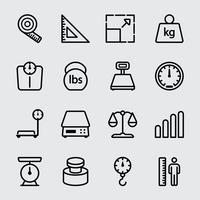 Schaal eenheid lijn pictogram