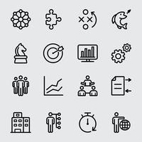 Zakelijke en strategie lijn pictogram