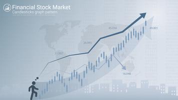 Kandelaarpatronen is een stijl van een financiële grafiek. vector