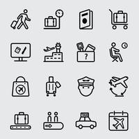 Luchthaven lijn pictogram
