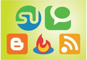 Sociale communicatie iconen