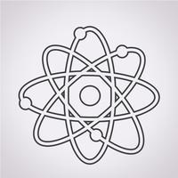 atoom pictogram symbool teken