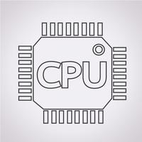CPU pictogram symbool teken vector