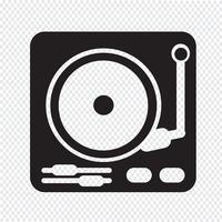 platenspeler pictogram symbool teken vector