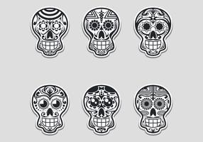 Suiker schedel vector illustratie