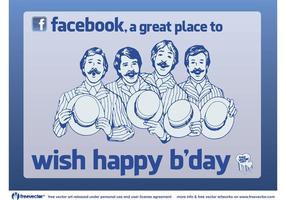 Facebook-verjaardag vector