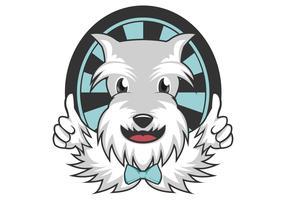 baard hond mascotte vectorillustratie