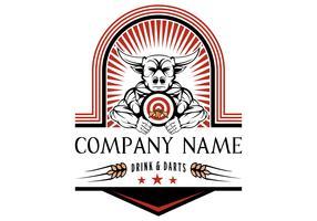 bullseye badge vectorillustratie