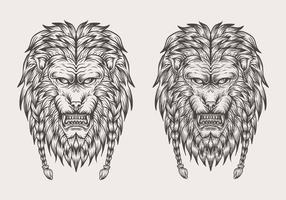 leeuw hand tekenen vectorillustratie
