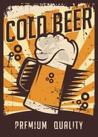 Koud bier Vintage Retro Signage Vector