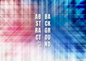 Abstracte gestreepte geometrische kleurrijke blauwe en rode achtergrond vector