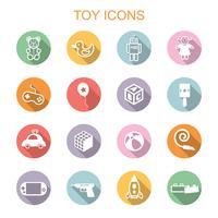 speelgoed lange schaduw pictogrammen