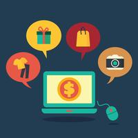 online winkelen concept vector