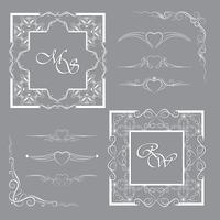 Verzameling frames en scheidingslijnen. Het kan worden gebruikt voor decoratie en ontwerp. vector