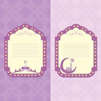 Vintage frame in Arabische stijl in de afbeelding van de moskee en een naadloos patroon.