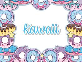Kawaii leuke tekenfilms vector