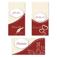 Uitnodiging voor een feest instellen. Stijlvol ontwerp voor uw vakantie, bruiloft, verjaardag vector