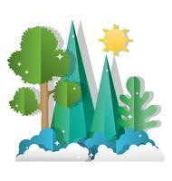 Papier kunst bos