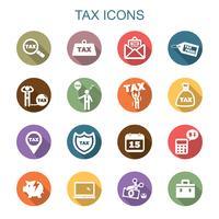 belasting lange schaduw pictogrammen