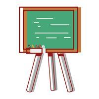 schoolbord met houten frame ontwerp vector