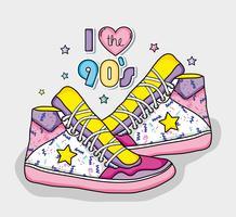 Ik hou van het concept van de jaren 90 vector