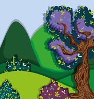 Prachtig boslandschap vector