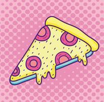 Popart pizza cartoon vector