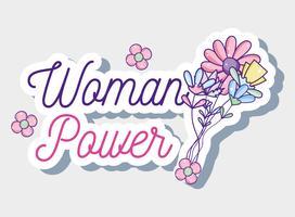 Vrouw macht cartoon vector
