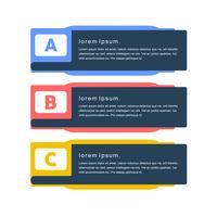 Kleurrijke creatieve minimale vectorkunstbanner