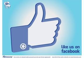 Facebook zoals hand vector