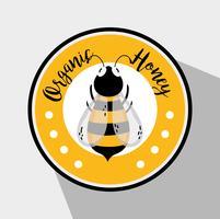 Biologisch honingetiket