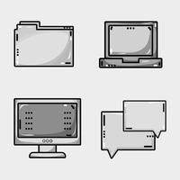 programmeur gegevensinformatietechnologie instellen vector