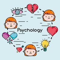 psychologie probleem en therapie behandeling instellen vector