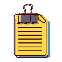 bedrijfsdocumentinformatie met clipontwerp